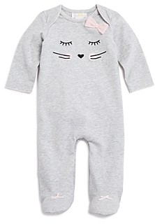Bloomie's Girls' Whiskers & Bows Footie, Baby - 100% Exclusive