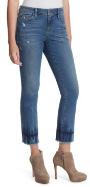 Jessica Simpson Arrow Frayed-Hem Ankle Jeans