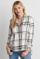 American Eagle Outfitters AE Ahh-mazingly Soft Plaid Babydoll Shirt