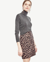 Ann Taylor Cropped Extrafine Merino Wool Turtleneck Sweater