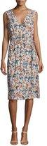 Current/Elliott The Sleeveless Floral-Print Wrap Dress, Multi