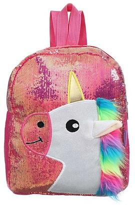 Ella & Elly Women's Backpacks Red - Red Sequin Unicorn Backpack
