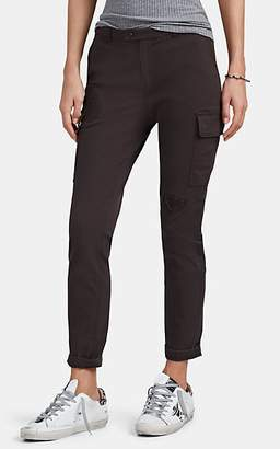ATM Anthony Thomas Melillo Women's Distressed Slim Crop Cargo Trousers - Dk. Green