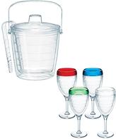 Tervis Four-Piece Color-Rim Wine Glass & Ice Bucket Set
