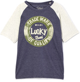 Lucky Brand Blue & White 'Trademark' Raglan Tee - Boys