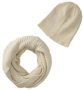 San Diego Hat Company KNH3334 Lurex Knit Infinity Scarf & Beanie Set