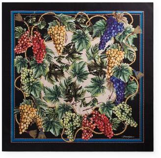 Dolce & Gabbana Silk Grape Print Scarf