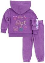 Butter Shoes Girls' Sparkle Princess Embellished Hoodie & Sweatpants Set