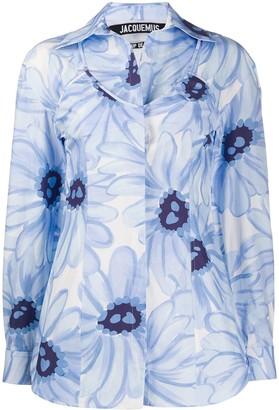 Jacquemus La chemise Valensole open-back shirt
