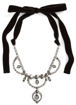 Miu Miu Women's Fume Imitation Pearl & Ribbon Statement Necklace