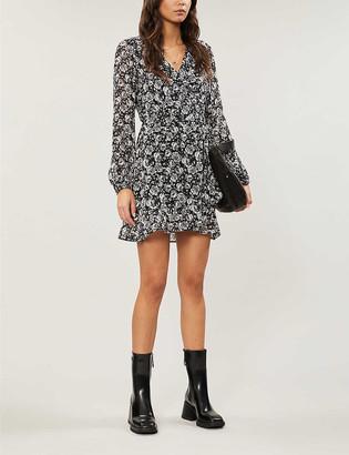 Paige Shawna floral-print silk-chiffon mini dress