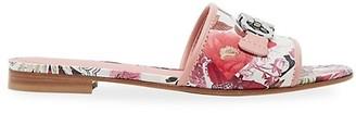 Salvatore Ferragamo Silk Capsule Rhodes Floral Slide Sandals