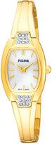 Pulsar Women's Gold-Tone Stainless Steel Bangle Bracelet Watch 19mm PTA506