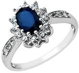 Lord & Taylor Sapphire Ring in 14 Kt. White Gold