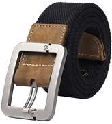 Dovia Men's Single Pin Buckle Leisure Canvas Belt (110cm, )