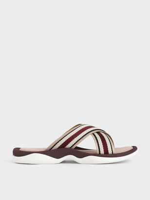 Charles & Keith Grosgrain Slide Sandals