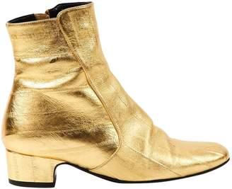Michel Vivien Gold Leather Boots