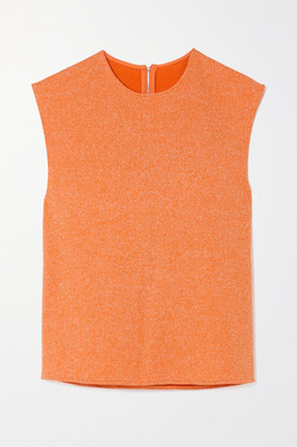 Tibi Melange Ribbed-knit Tank - Orange