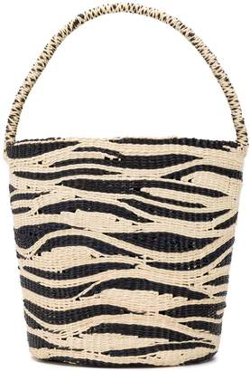 Sensi Studio zebra bucket bag