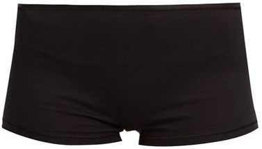 Thumbnail for your product : Hanro Seamless Cotton Boy-short Briefs - Black
