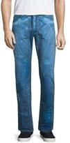 PRPS Barracuda Bleach-Splatter Denim Jeans, Dark Blue