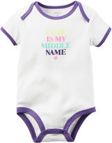 Carter's Short-Sleeve Slogan Bodysuit - Baby Girls newborn-24m