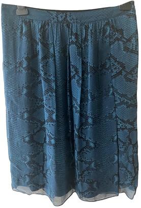 Burberry Blue Silk Skirt for Women