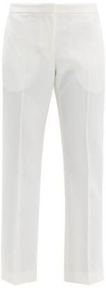 Alexander McQueen Tailored Virgin Wool-twill Trousers - Womens - Ivory