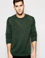 Asos Knitted Sweater with Rib Neck Detail