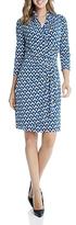 Karen Kane Cascade Faux Wrap Geo Print Dress