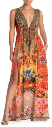 Shahida Parides Sleeveless Floral Maxi Dress