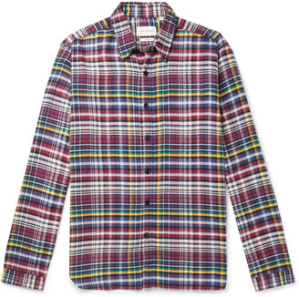 Oliver Spencer New York Special Checked Organic Cotton And Tencel-Blend Flannel Shirt