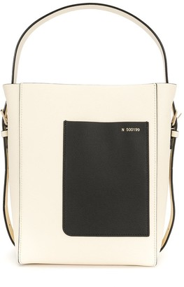 Valextra Contrasting Detail Small Satchel