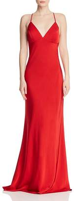 Couture Faviana Draped Satin Gown