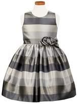 Sorbet Toddler Girl's Metallic Stripe Dress