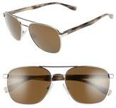 BOSS Men's '0701/s' 57Mm Aviator Sunglasses - Dark Ruthenium Black