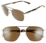 BOSS Men's '0701/s' 57Mm Aviator Sunglasses - Palladium Dark Horn