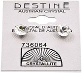 Crystallite Destine Austrian Crystal Diamond Cut Post Earrings
