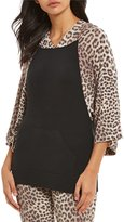 Betsey Johnson Leopard-Print Cozy Fleece Lounge Hoodie