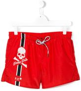 Philipp Plein White Sand beach shorts