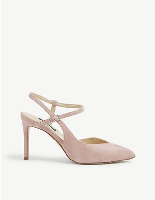 Nine West Elisa faux-suede stiletto heel court shoes
