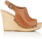 Sam Edelman WOMEN'S CAMILLA LEATHER PLATFORM-WEDGE SANDALS