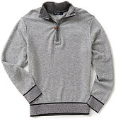 Daniel Cremieux Merino Wool Quarter-Zip Long-Sleeve Pullover