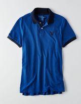 American Eagle AEO Short Sleeve Pique Polo