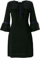 Blumarine lace panel dress - women - Polyamide/Viscose/Wool - 42
