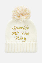 Fashion to Figure Sparkle All The Way Pompom Hat