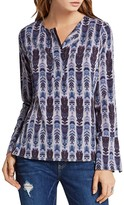 BCBGeneration Feather Print Henley Top