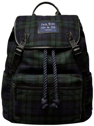 Jack Wills Kesgrave Check Backpack