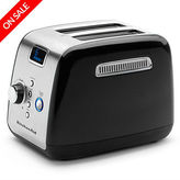 KitchenAid NEW KMT223 Onyx Black Two Slice Toaster