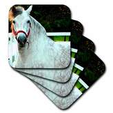 3dRose cst_671_3 Andalusian Gelding Ceramic Tile Coasters, Set of 4